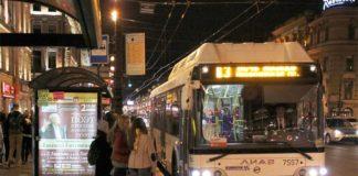 Ночные автобусы в Санкт-Петербурге