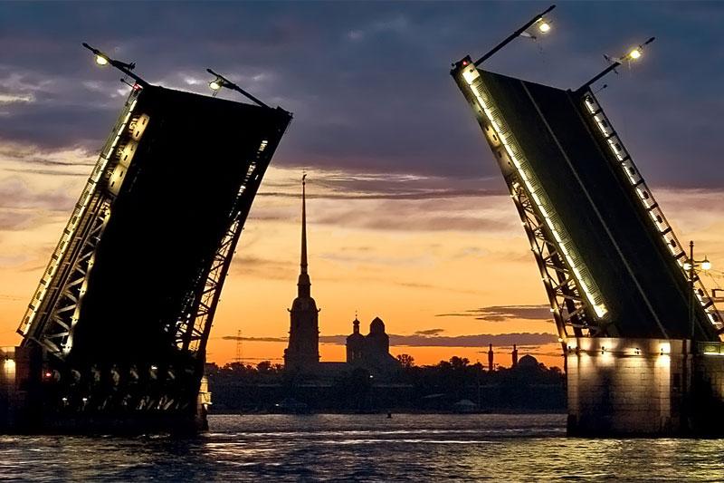 График разводки мостов в Санкт-Петербурге в 2019 году изоражения