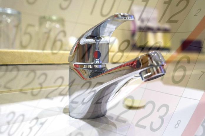 График отключения горячей воды